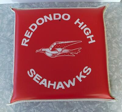 Redondo Beach Union High School Seahawks Vintage 1960s Vinyl Seat Cushion CA