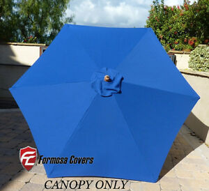 High Quality 9ft Patio Outdoor Market Umbrella Replacement Canopy Cover Top 6 Ribs.Royal  Blue