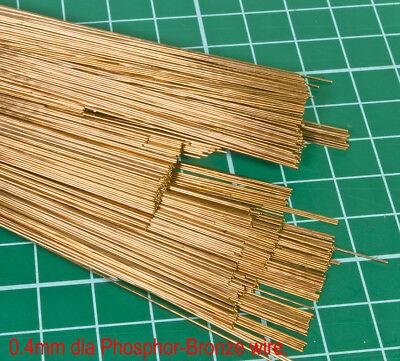 10 (Ten) pack of 0.4mm diameter phosphor bronze modellers wire. 300mm lengths.