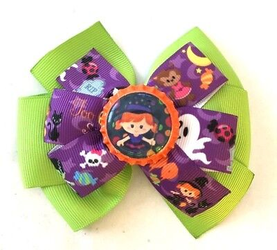 Beautiful Halloween Ghosts and Witches Inspired Hair Bow