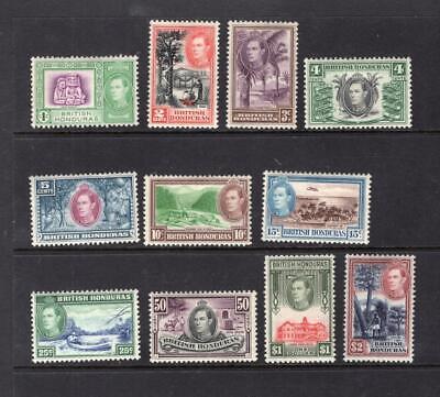 British Honduras 1938 Partial Set - OG MH-SC# 115-125  Cats $61.40   No Reserve!