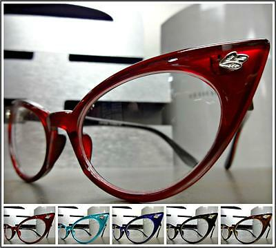 CLASSIC VINTAGE RETRO Unique CAT EYE Style Clear Lens EYE GLASSES Fashion Frame Cat Eye Frame