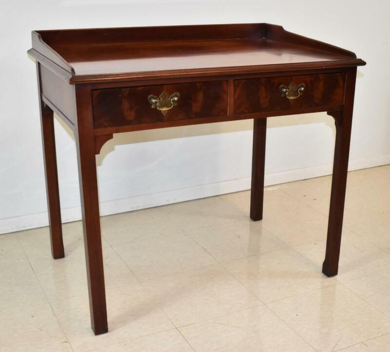 Ladies Mahogany Chippendale Writing Desk By Hickory Chair Co. James River