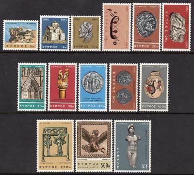 Cyprus MNH 1966 SG283-96 Definitive Set