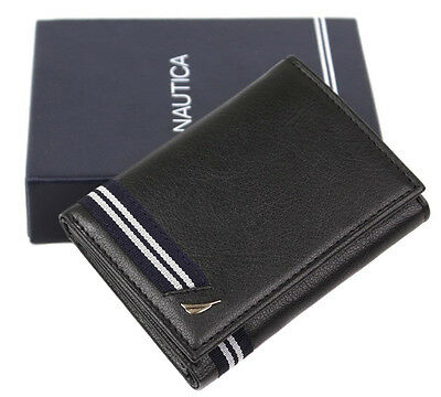 Nautica Mens Genuine Leather Trifold Credit Card Id Holder Wallet 31Nu110002