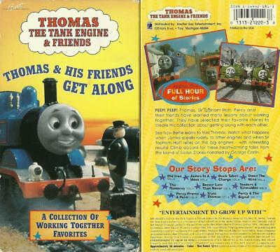 Vintage Thomas Train The Tank  Engine Friends Get Along VHS video