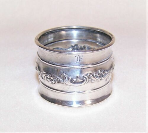 """Vintage Sterling Silver Napkin Ring """"F"""" initial engraving"""