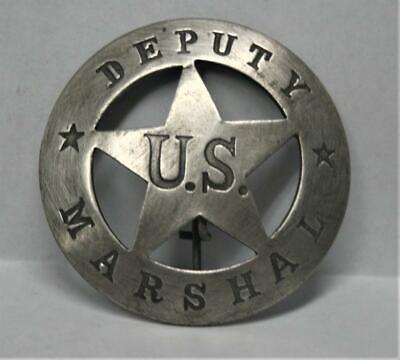Reproduced Collectible -  Deputy U.S. Marshal Badge - - round center star 2 1/4