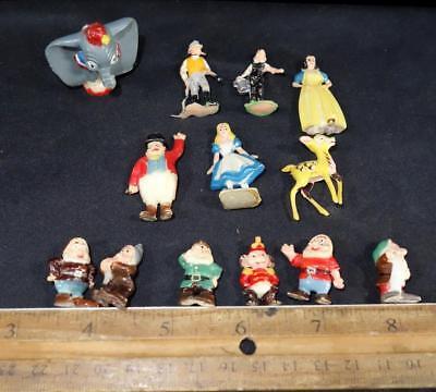 Lot of 11+2 Vintage Disneykins Disney Character Hard Plastic Toys Figurines !