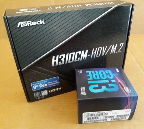 New Motherboard & CPU combo  Intel 9th gen Core i3-9100F & Asrock H310CM-HDV/M.2