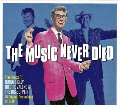 THE MUSIC NEVER DIED -BUDDY HOLLY,RITCHIE VALENS,THE BIG BOPPER (NEW SEALED 3CD) ()