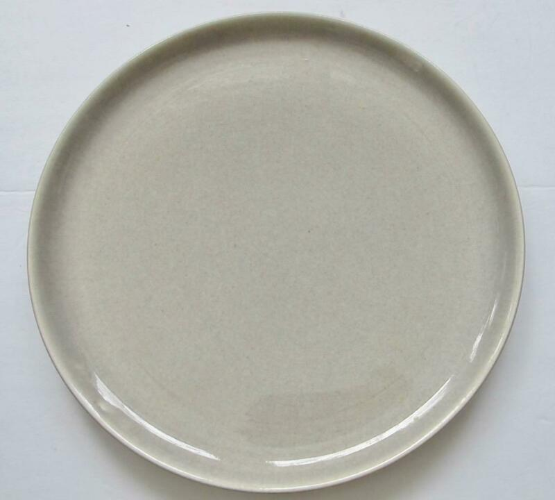 Russel Wright 10 Inch Dinner Plate Steubenville Mid Century Modern Grey