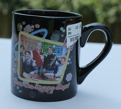 Happy Days TV Show Black Coffee Cup These Are The Happy Days 12 OZ NEW Fonzie
