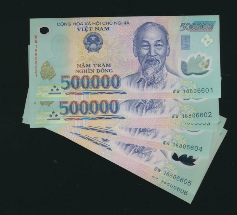 Vietnam 500,000 Dong UNC from pack, passed UV testing AUTHENTIC