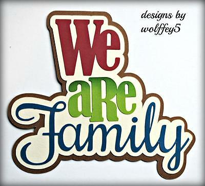 CRAFTECAFE FAMILY KID TITLE paper piecing premade scrapbook page diecut WOLFFEY5
