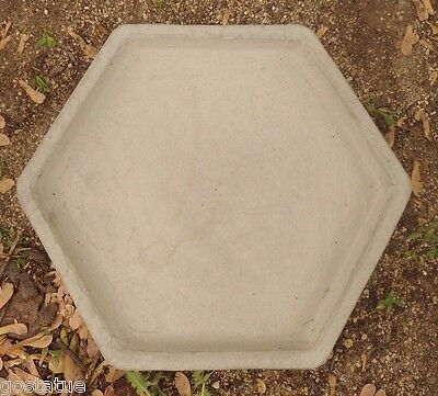 - Poly plastic birdbath top full size  6 sided concrete mold cast 100's