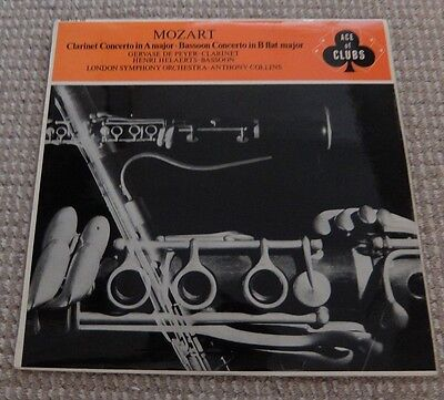 "Mozart Clarinet Concerto inA major/ Bassoon Concerto in B Flat 12"" Vinyl Record"