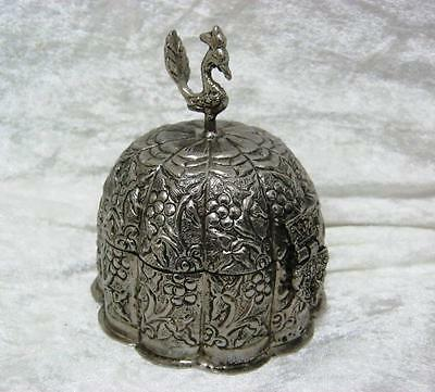 Middle Eastern Silver Plated Peackcock Top and hinged lid