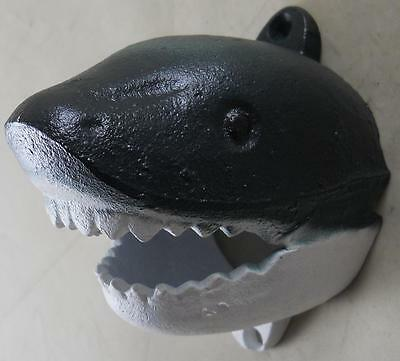 Cast Iron Wall Mounted Shark Bottle Opener - Kitchen Pub Bar Beer Opener Bars
