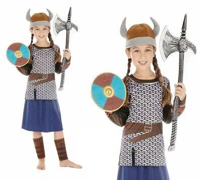 Wikinger Mädchen Kostüm Sächsisch Warrior Kinder Historisch Welttag des (Welttag Des Buches Kostüm Mädchen)