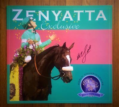 ZENYATTA MIKE SMITH SIGNED POSTER Breeders' Cup Horse Racing Santa Anita Park