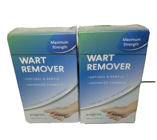 2-PACK Fast Acting Wart Remover Plantar Genital HPV Treatment Liquid 11/2021  - $29.95