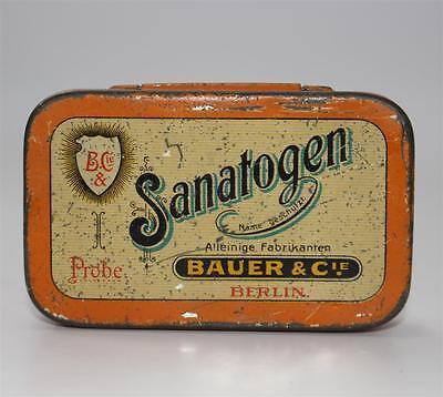 alte Blechdose, SANATOGEN Bauer & Cie Berlin ca. 1920  #F385