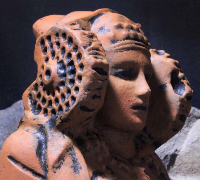 "DAMA ELCHE The ""Atlantean Lady"" Ancient Goddess Figurine ancient replica"