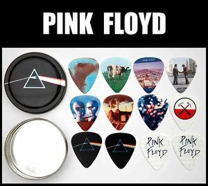 pink floyd tin of 12 premium guitar picks 2 sided ebay. Black Bedroom Furniture Sets. Home Design Ideas