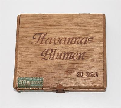 alte Zigarrenkiste, Havanna Blumen 20 Zigarren, Holz #F165