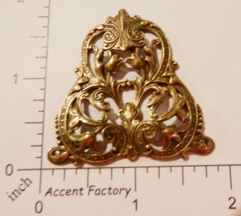 24843     Brass Oxidized Ornate Filigree Jewelry Finding