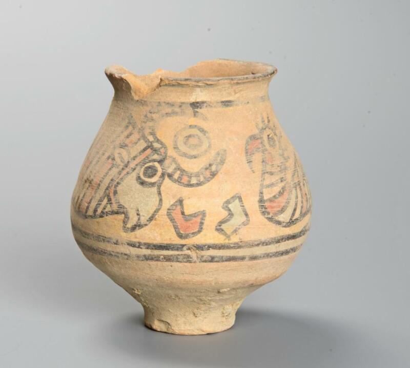 Indus Valley Nal Culture decorated jar: Circa 2400-1900 BC.