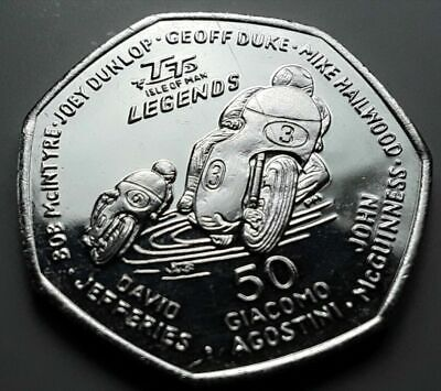 2015 ISLE OF MAN UNC 50P Fifty Pence TT LEGENDS