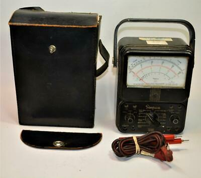 Simpson 260 Series 6 Volt Ohm Milliammeter Multimeter W Caseleads For Repair