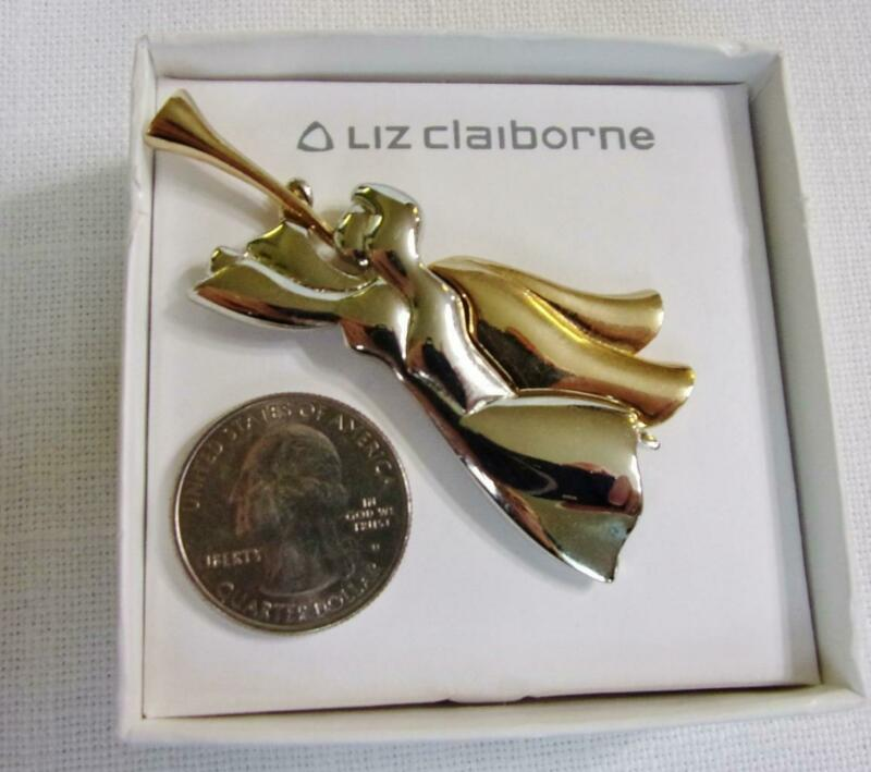 Liz Claiborne Two Tone Angel Pin Brooch