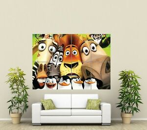 MADAGASCAR CARTOON KIDS  HUGE GIANT ART PRINT PICTURE ST847