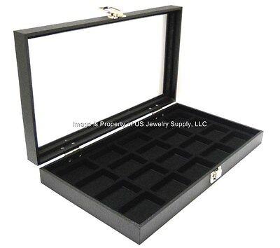 Key Lock Locking 20 Space Jewelry Sales Collectors Storage Display Case