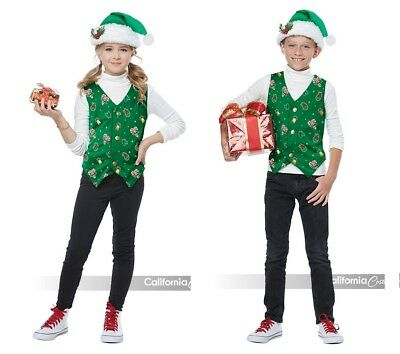 California Kostüme Holiday Weste Grün Kinder Jungen Mädchen Weihnachten Kostüm ()