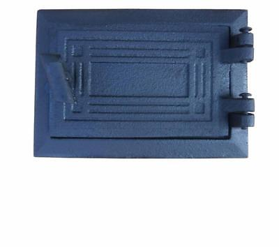 Cast Iron Fire Door Clay Bread Oven Pizza Stove Quality Grey (H) 12,5 x 17,5