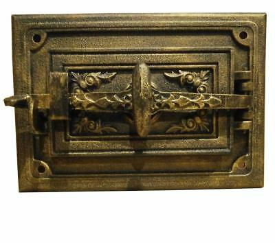 Cast Iron Fire Door Clay Bread Oven Pizza Stove Quality Gold (FN) 23 x 33