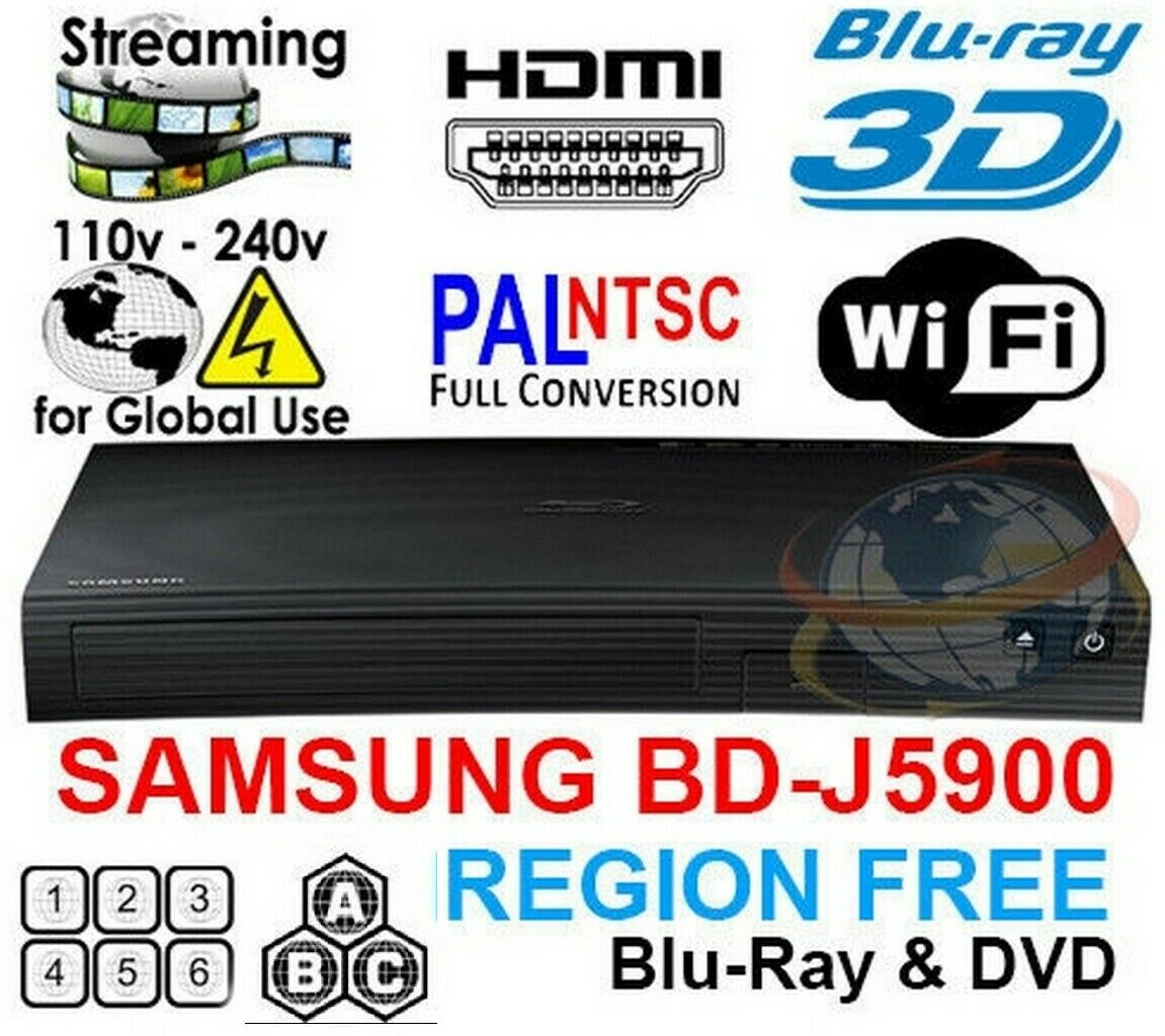 Samsung J5900 Zone A All Region Free DVD 3D Blu-ray disc Pla