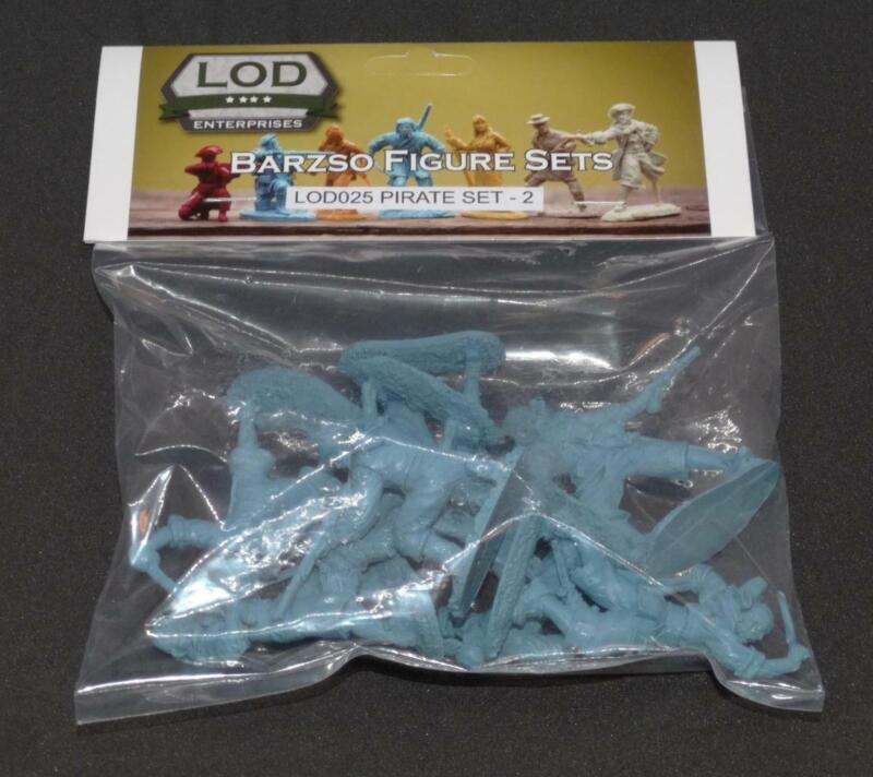 Barzso Pirate Set 2 Blue Toy Soldiers 1/32