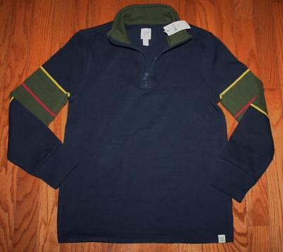 NEW NWT GAP Boys Half Zip Striped Pullover Sweater MockNeck True Indigo $29 (Pullover Boys Sweater)