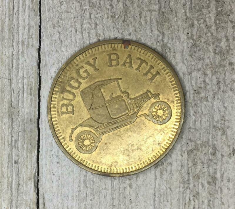 Vintage Buggy Bath Car Wash Token Coin