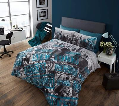 New York Premium Bed Set with Duvet Cover and Pillow Cases Double Size