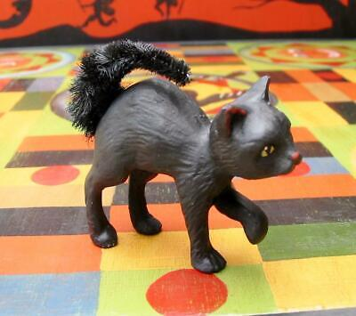 Bethany Lowe Halloween Little Scaredy Black Cat Chenille Tail New