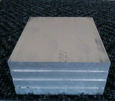 4 Pc 6061 Aluminum .5 X 4 X 4 Long New Solid Plate Flat Stock Bar Block 12