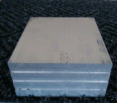 4 Pc 6061 Aluminum .5 X 4 X 4 Long New Solid Plate Flat Stock Bar Block 12