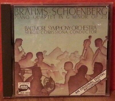 Brahms-Schoenberg Piano Quartet in G Minor OP25  CD  LIKE NEW