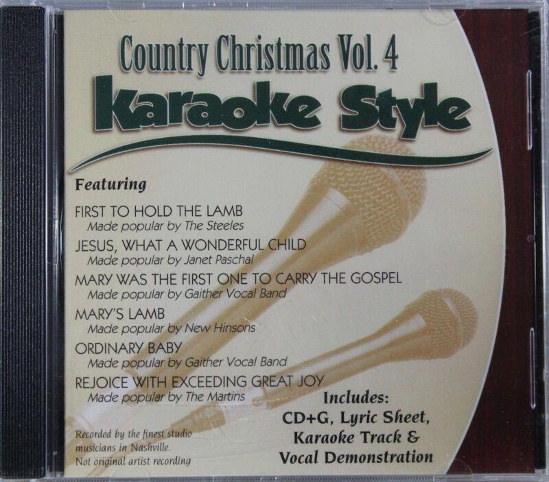 Country Christmas Volume 4 Christian Karaoke Style NEW CD+G Daywind 6 Songs
